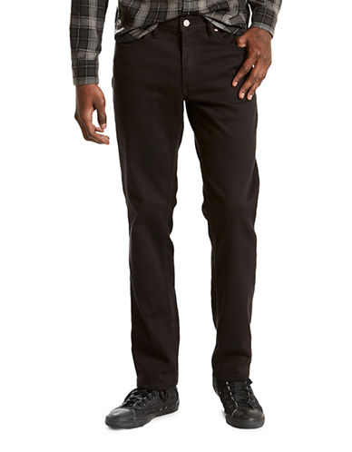 LeviS 511 Brushed Slim-Fit Jeans-BLACK-36X32