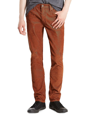 LeviS 511 Slim-Fit Corduroy Pants-BROWN-36X30