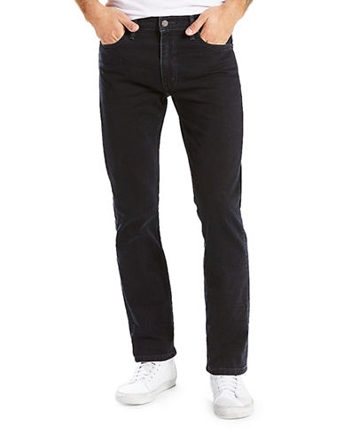 LeviS 513 Slim Straight-Fit Link Jeans-BLACK-38X32