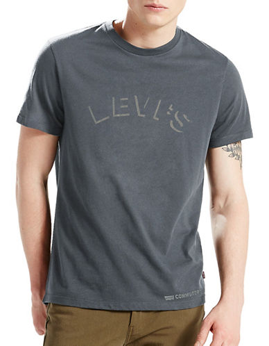 Levi'S Commuter Pro Graphic Tee-GREY-Large
