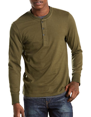 LeviS Bryant Cotton Henley-GREEN-Large