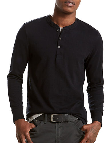 LeviS Bryant Cotton Henley-BLACK-Medium