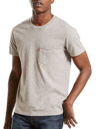 LeviS Sunset Pocket Cotton Tee-GREY-X-Large