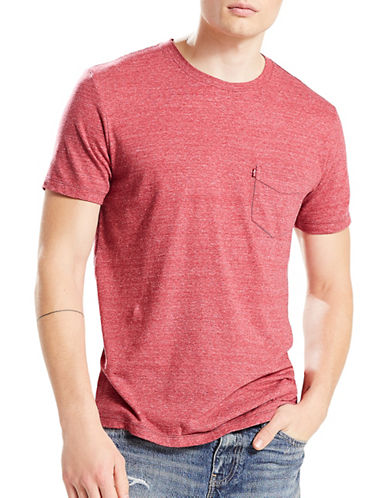 LeviS Sunset Pocket Tri-Blend Tee-RED-Medium