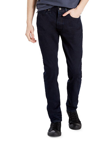 LeviS 501 Carbonized Skinny-Fit Stretch Jeans-BLUE/BLACK-34X34