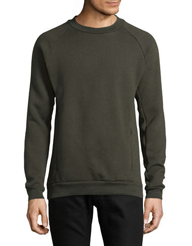 LeviS COOLMAX Fleece Sweatshirt-GREEN-Large