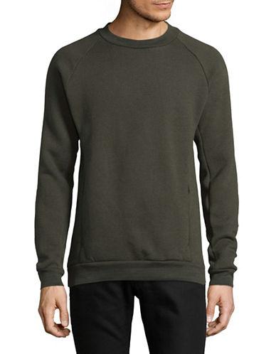 LeviS COOLMAX Fleece Sweatshirt-GREEN-Medium