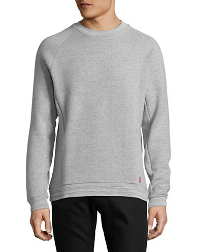 LeviS Commuter Pro Raglan Sweatshirt-GREY-X-Large