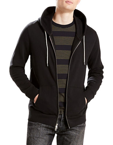 LeviS Original Zip-Up Hoodie-BLACK-Medium