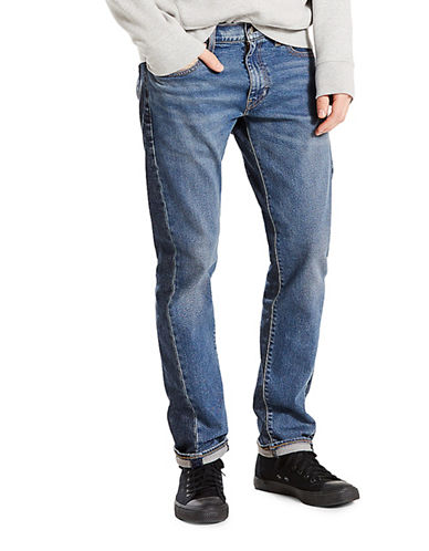 LeviS Altered Indigo Puzzle Drop Crop Jeans-BLUE-34
