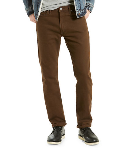 LeviS 513 Slim Straight-Fit Chinos-BROWN-33X34