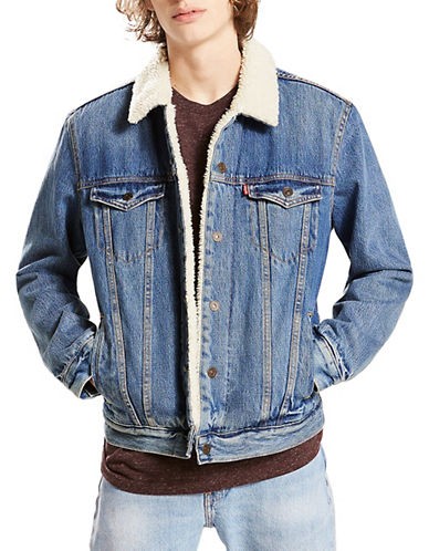 LeviS Sherpa Trucker Jacket-BLUE-XX-Large