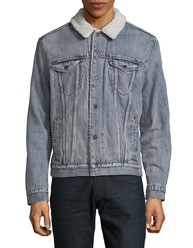 Levi'S Type III Sherpa Trucker Jacket-BLUE-Large 90025827_BLUE_Large