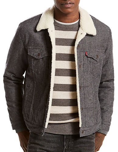 LeviS Sherpa Trucker Jacket-GREY-Large