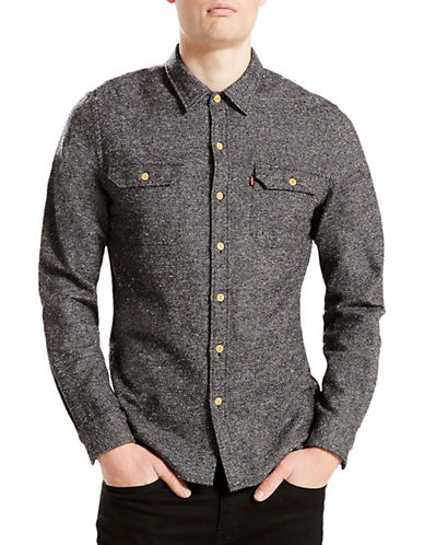 LeviS Cotton Sport Shirt-GREY-Small