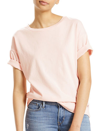 Levi'S Sutro Cotton Tee-PINK-Large 89373940_PINK_Large