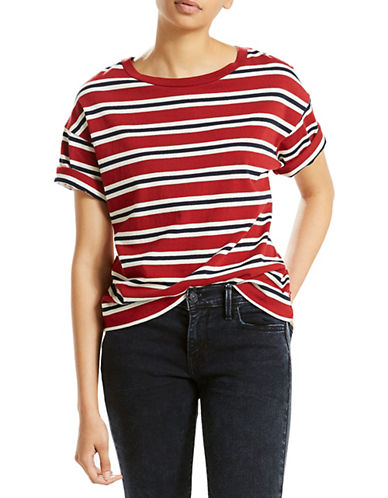 LeviS New Sutro Cotton Tee-RED-X-Large