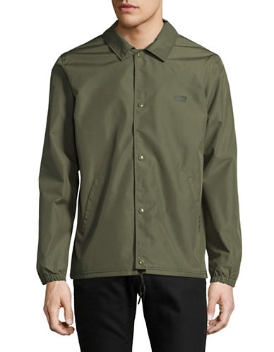 LeviS Coach Water Repellent Jacket-GREEN-X-Large