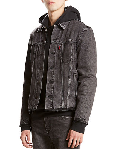 LeviS Altered Reform Cotton Trucker Jacket-GREY-Large