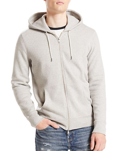 LeviS Original Zip-Up Hoodie-GREY-Large
