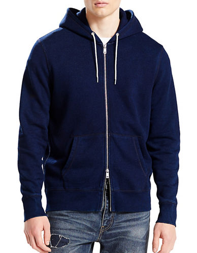 Levi'S Original Zip-Up Hoodie-BLUE-Small