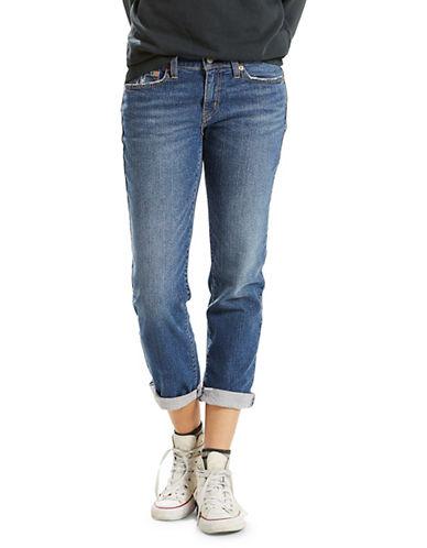 LeviS Washed New Boyfriend Jeans-BLUE-32