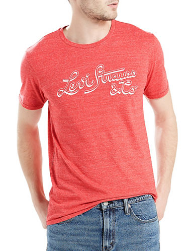 LeviS Logo Cotton Tee-RED-Large
