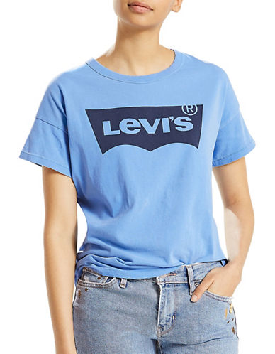 LeviS Authentic Cotton Tee-BLUE-X-Small