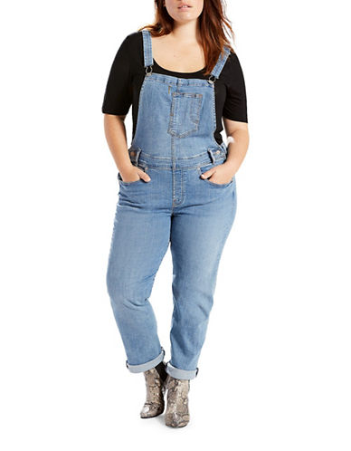 LeviS Plus Denim Overalls-BLUE-20W