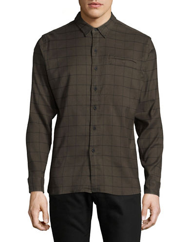 LeviS COOLMAX Long-Sleeve Work Shirt-GREEN-Medium