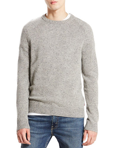 LeviS Hayes Wool Crewneck Sweater-GREY-X-Large