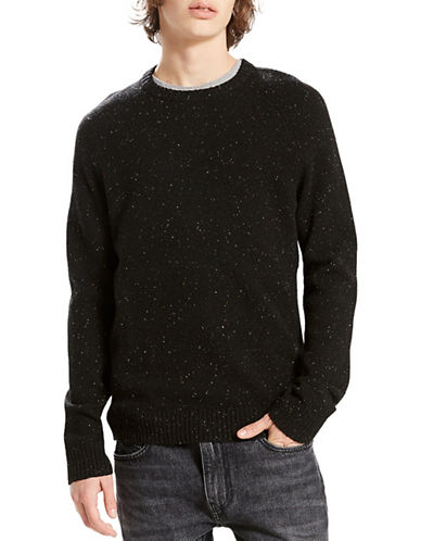 LeviS Hayes Wool Crewneck Sweater-BLACK-Medium