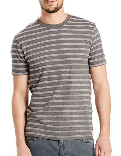 Levi'S Mission Crew Neck Cotton Tee-GREY-Medium 89355482_GREY_Medium