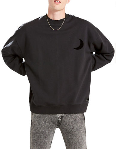LeviS L8 Oversized Crew Sweater-BLACK-Medium