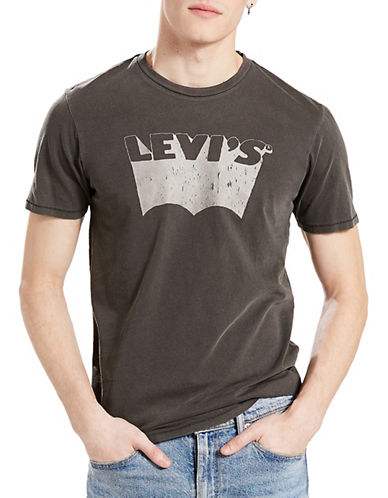 LeviS Housemark Graphic Tee-GREY-Medium