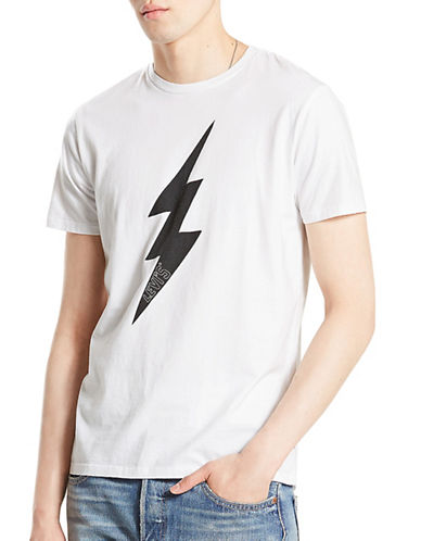 Levi'S Lightning Bolt Cotton Tee-WHITE-Large