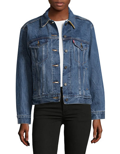 HudsonS Bay Company X Levis Ex-Boyfriend Trucker Jacket-MULTI-Small