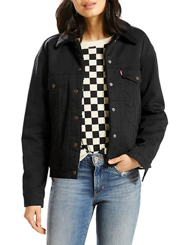 Levi'S Sherpa-Lined Denim Trucker Jacket-BLACK-Small