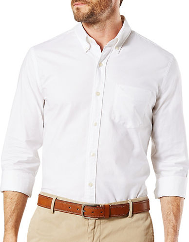 Dockers Oxford Dress Shirt-WHITE-Large