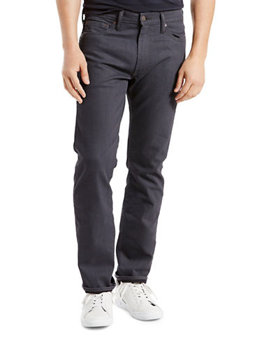 LeviS 513 Stealth Slim Straight-Fit Jeans-GREY-33X32