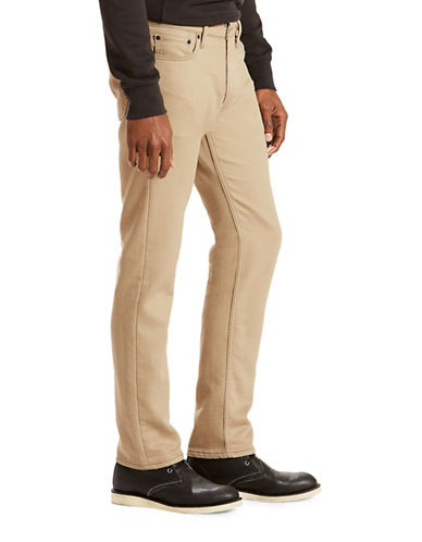 Levi'S 513 Slim Straight-Fit Chinos-BEIGE-33X34