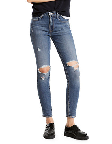 LeviS 721 High-Rise Skinny Jeans-BLUE-27X32