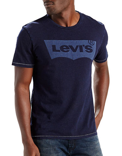 Levi'S Housemark Graphic Cotton Tee-BLUE-Small