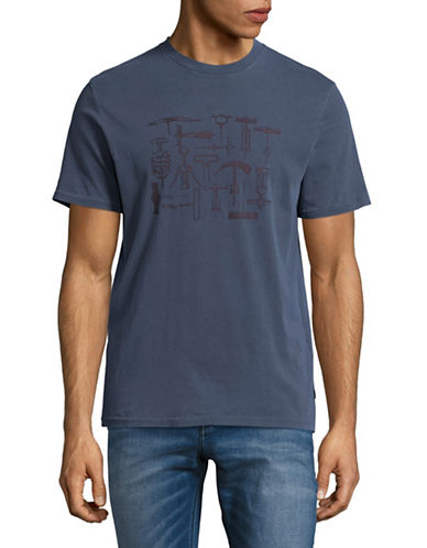 Dockers Tool Graphic T-Shirt-BLUE-Small