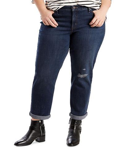 LeviS Plus Plus Boyfriend Jeans-BLUE-18W