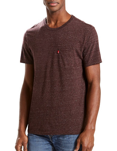 LeviS Sunset Pocket Tri-Blend Tee-BROWN-X-Large