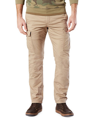 Dockers Slim Broken In Cargo Khaki Pants-BEIGE-36X32