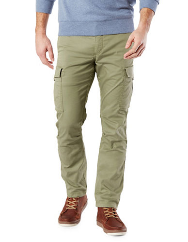 Dockers Slim Broken In Cargo Pants-GREEN-34X32