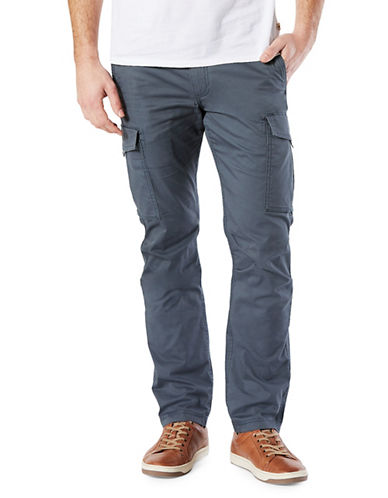 Dockers Slim Broken In Cargo Pants-BLUE-34X30