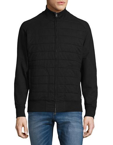 Dockers Quilted Zip-Up Sweatshirt-BLACK-Medium